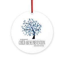 Child-Abuse-Tree Round Ornament