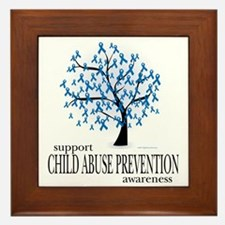 Child-Abuse-Tree Framed Tile