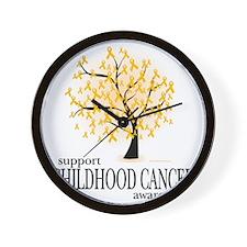 Childhood-Cancer-Tree Wall Clock