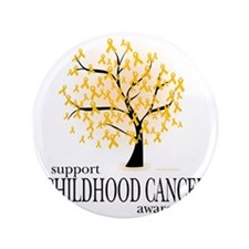 """Childhood-Cancer-Tree 3.5"""" Button"""