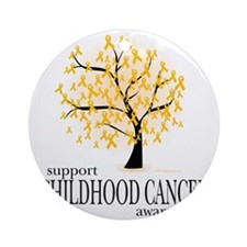 Childhood-Cancer-Tree Round Ornament