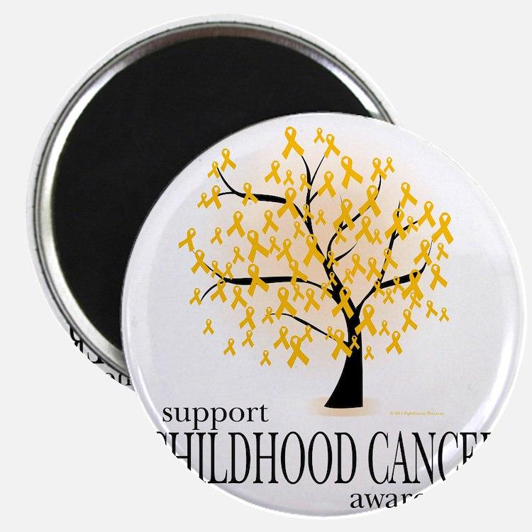 Childhood-Cancer-Tree Magnet