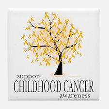 Childhood-Cancer-Tree Tile Coaster