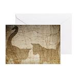 Kitten Shadow Art Greeting Cards (10 Pk)