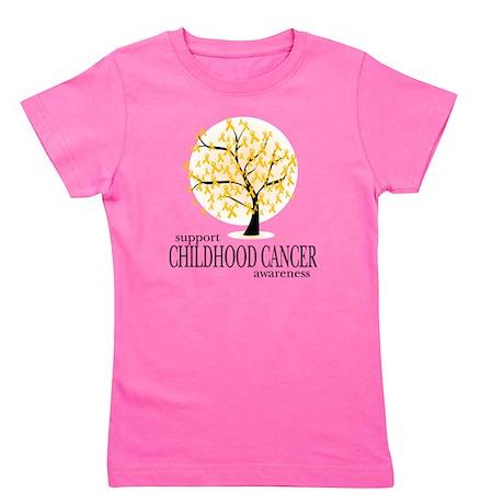 Childhood-Cancer-Tree Girl's Tee