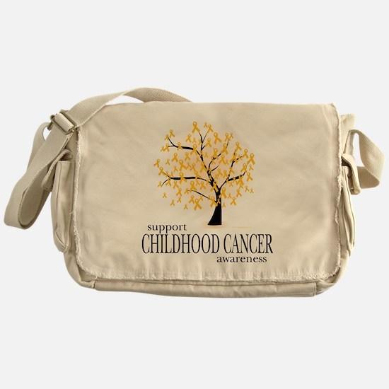 Childhood-Cancer-Tree Messenger Bag