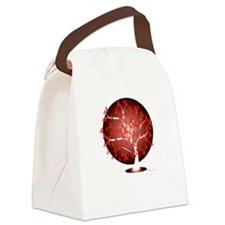 AIDSHIV-Tree-blk Canvas Lunch Bag