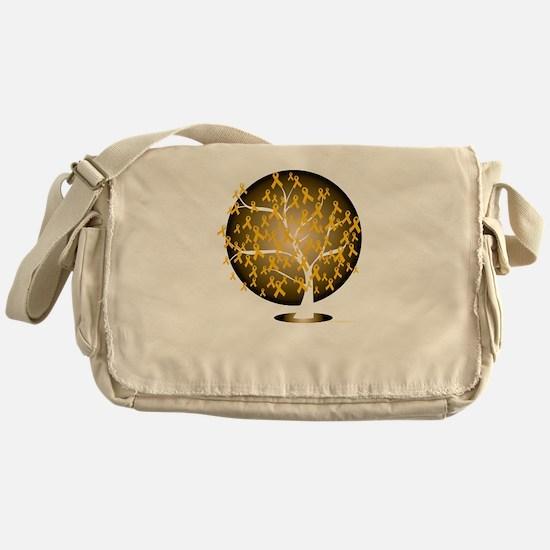 Childhood-Cancer-Tree-blk Messenger Bag