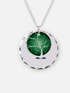 Cerebral-Palsy-Tree-blk Necklace