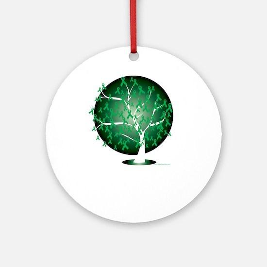 Cerebral-Palsy-Tree-blk Round Ornament