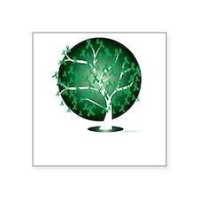 "Cerebral-Palsy-Tree-blk Square Sticker 3"" x 3"""