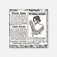 """Pictorial Review and Lace Square Sticker 3"""" x 3"""""""