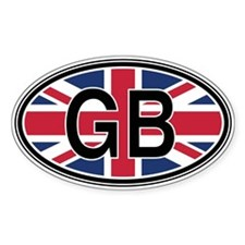 Great Britain Euro Oval Decal