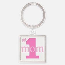 # 1 mom Square Keychain