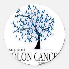 Colon-Cancer-Tree Round Car Magnet