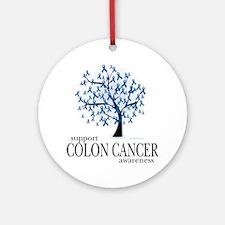 Colon-Cancer-Tree Round Ornament