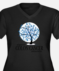 Colon-Cancer Women's Plus Size Dark V-Neck T-Shirt