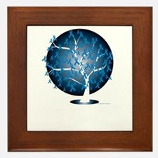 Colon-Cancer-Tree-blk Framed Tile