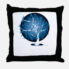 Colon-Cancer-Tree-blk Throw Pillow