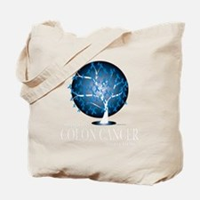 Colon-Cancer-Tree-blk Tote Bag