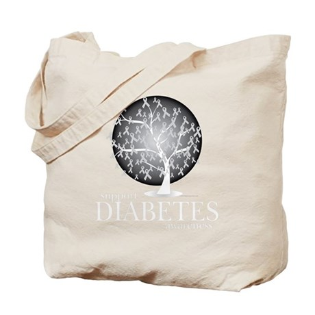 Diabetes-Tree-blk Tote Bag