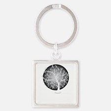 Diabetes-Tree-blk Square Keychain