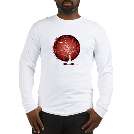 Heart-Disease-Tree-blk Long Sleeve T-Shirt