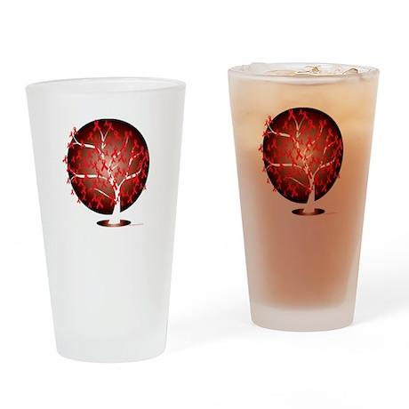 Heart-Disease-Tree-blk Drinking Glass