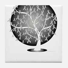 Parkinsons-Disease-Tree-blk Tile Coaster