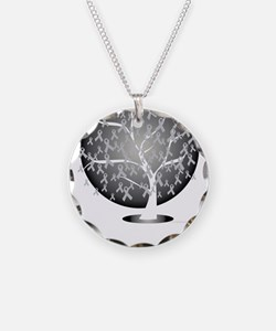 Parkinsons-Disease-Tree-blk Necklace