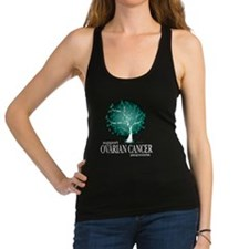 Ovarian-Cancer-Tree-blk Racerback Tank Top