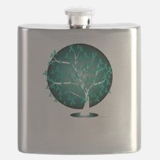 Ovarian-Cancer-Tree-blk Flask