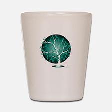 Ovarian-Cancer-Tree-blk Shot Glass