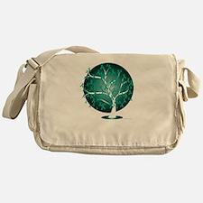 Ovarian-Cancer-Tree-blk Messenger Bag