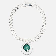 Ovarian-Cancer-Tree-blk Bracelet