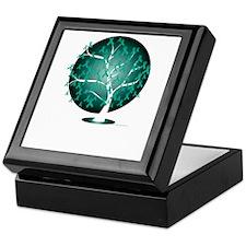 Ovarian-Cancer-Tree-blk Keepsake Box