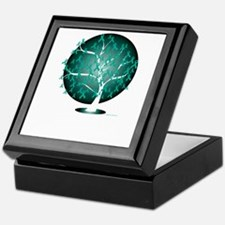 Ovarian-Cancer-Tree-blk Keepsake Box