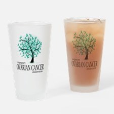 Ovarian-Cancer-Tree Drinking Glass