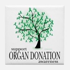 Organ-Donation-Tree Tile Coaster