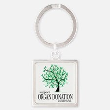 Organ-Donation-Tree Square Keychain