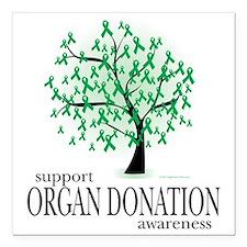 "Organ-Donation-Tree Square Car Magnet 3"" x 3"""
