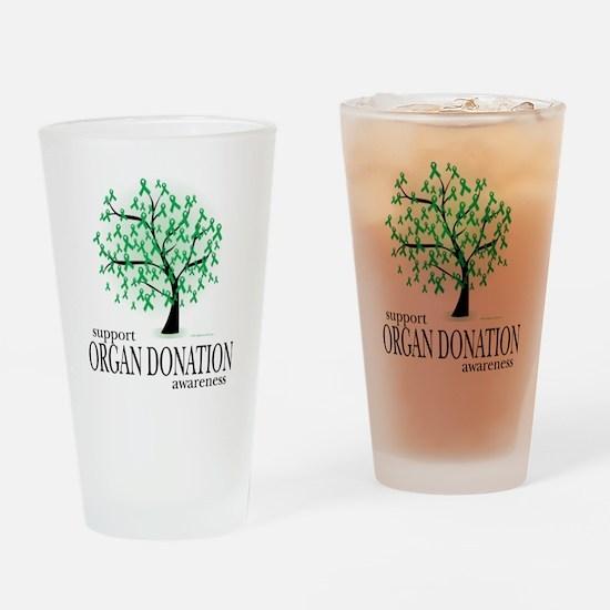 Organ-Donation-Tree Drinking Glass