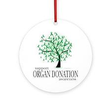 Organ-Donation-Tree Round Ornament