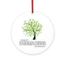 Non-Hodgkins-Lymphoma-Tree Round Ornament