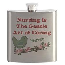 Nursing Nurse Green Flask