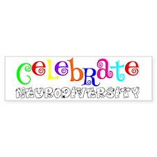 Awareness tee neurodiversity copy Bumper Stickers