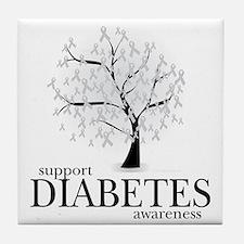 Diabetes-Tree Tile Coaster