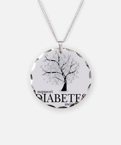Diabetes-Tree Necklace Circle Charm