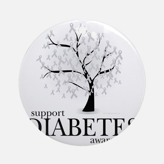 Diabetes-Tree Round Ornament