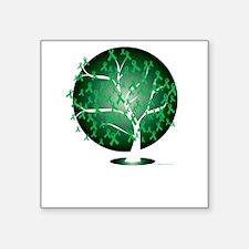 "Organ-Donation-Tree-blk Square Sticker 3"" x 3"""